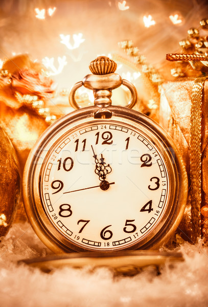 Christmas pocket watch Stock photo © cookelma