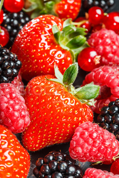Variety of different berries Stock photo © cookelma