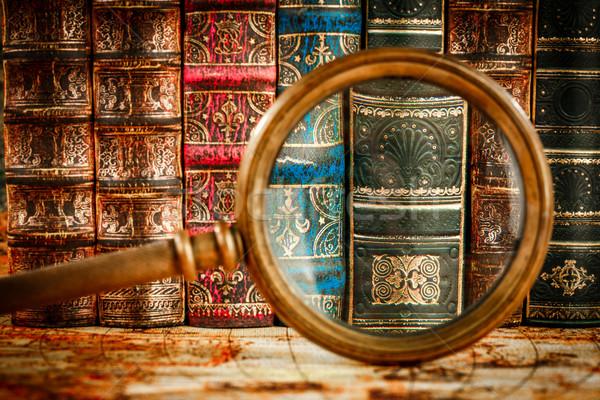 Eski kitaplar eski kitap okul Stok fotoğraf © cookelma