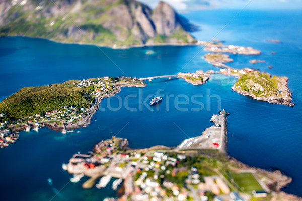 Panorama Lofoten is an archipelago in the county of Nordland, No Stock photo © cookelma