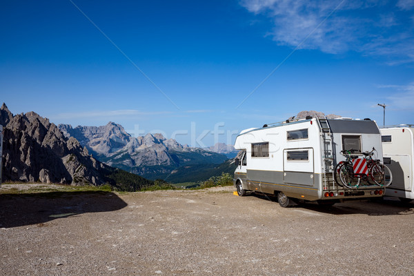 Family vacation travel, holiday trip in motorhome VR Stock photo © cookelma