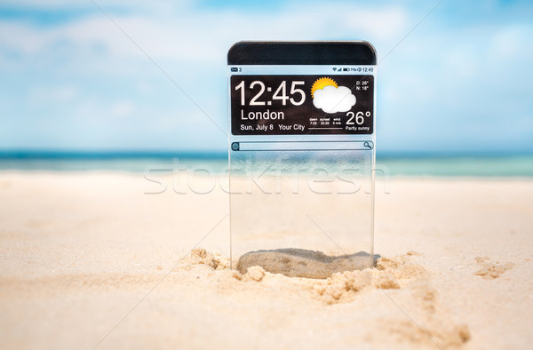 Transparente exibir futurista cópia espaço areia Foto stock © cookelma