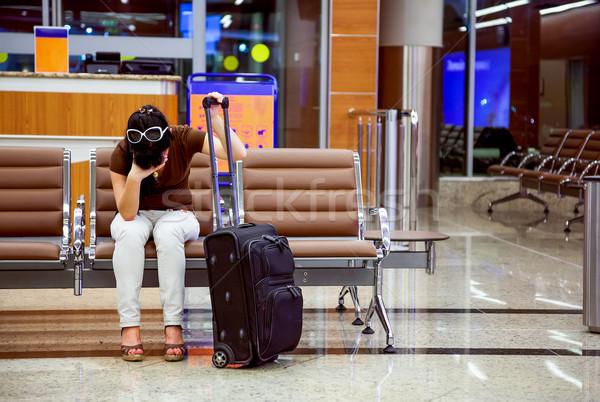 Woman missed the plane Stock photo © cookelma