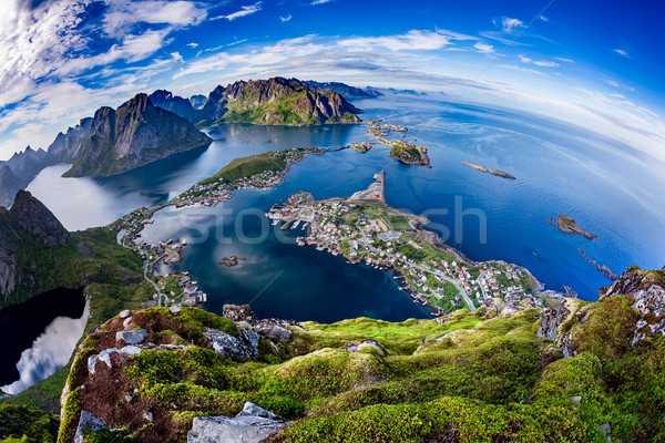 Lofoten archipelago Fisheye lens Stock photo © cookelma