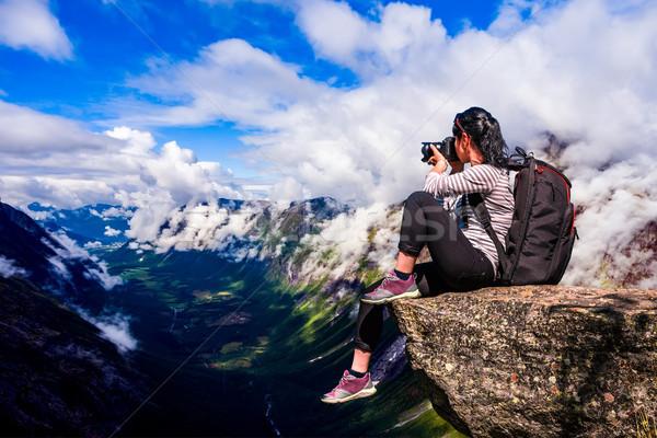 Nature photographer Norway Stock photo © cookelma