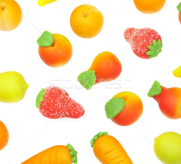 Doces marzipan forma fruto Foto stock © cookelma