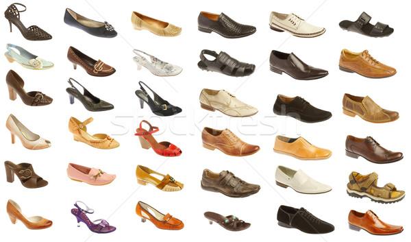 Man's and female footwea Stock photo © cookelma
