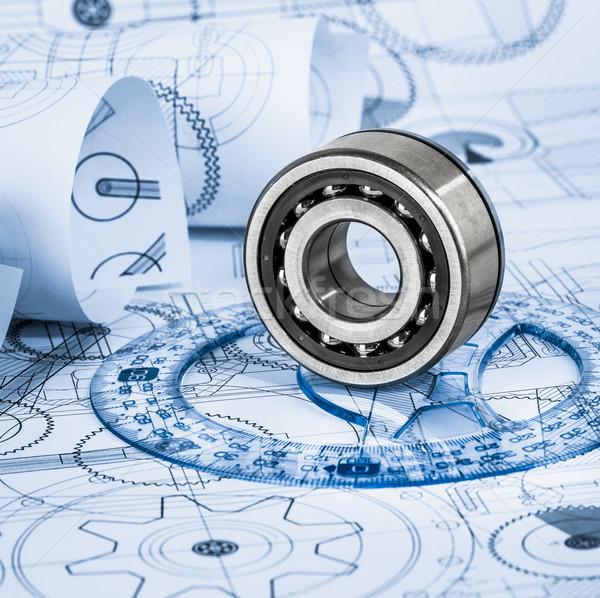 Сток-фото: технической · синий · строительство · дизайна · технологий