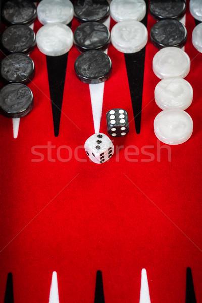 Rood boord dobbelstenen leuk succes spelen Stockfoto © cookelma