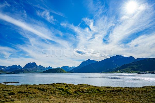 Foto d'archivio: Arcipelago · Norvegia · scenario · drammatico · montagna · open