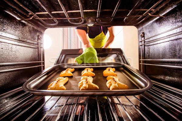 Horno vista dentro cocina Foto stock © cookelma