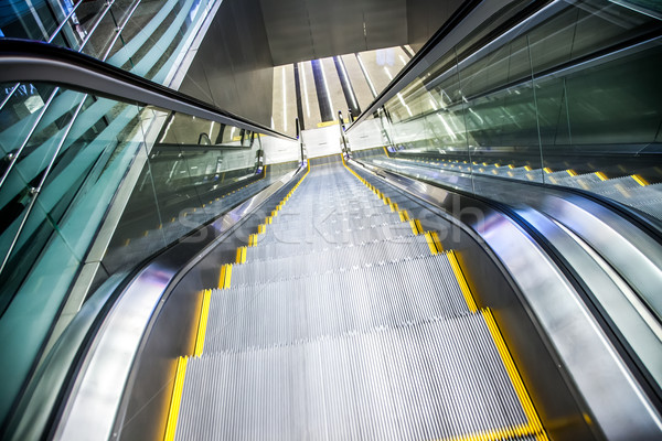 Airport moving sidewalk also travelator, walkalator and movator. Stock photo © cookelma
