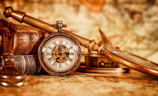 Vintage pocket watch Stock photo © cookelma