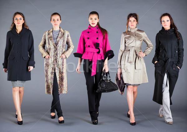 Сток-фото: пять · девочек · осень · зима · коллекция · одежды