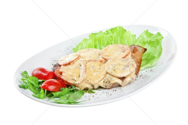 roast pork on the white Stock photo © cookelma