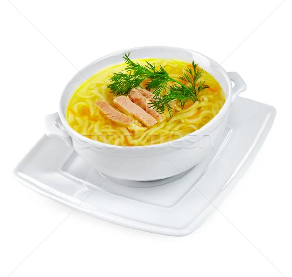 Stok fotoğraf: Tavuk · çorba · yalıtılmış · beyaz · gıda