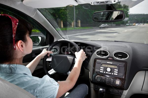 women driving a car Stock photo © cookelma