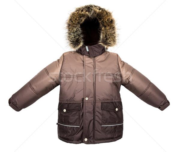 Chaud veste isolé hiver blanche design Photo stock © cookelma
