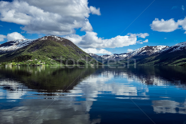 美しい 自然 ノルウェー 自然 風景 水 ストックフォト © cookelma