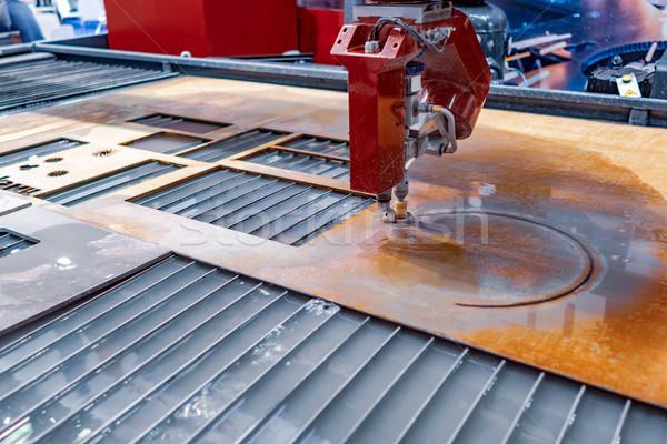 Wasser Jet Schneiden Maschine modernen industriellen Stock foto © cookelma