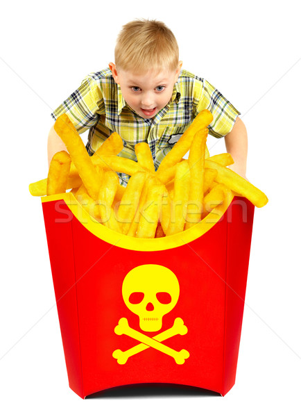 French fries in a red box Stock photo © cookelma