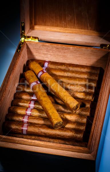 Charutos abrir negócio caixa dom Foto stock © cookelma
