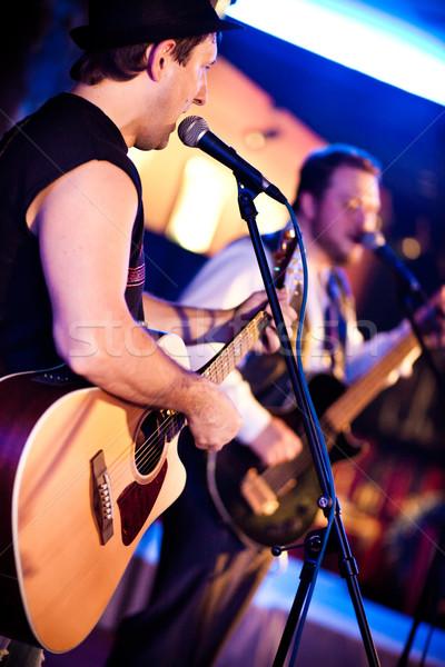Músico guitarra concerto Foto stock © cookelma