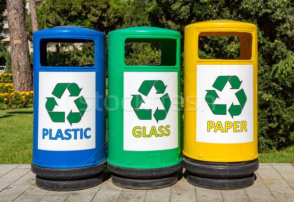 Colorful Garbage bins Stock photo © cookelma