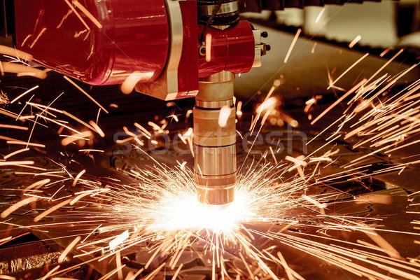 Lézer plazma vág fém modern ipari Stock fotó © cookelma