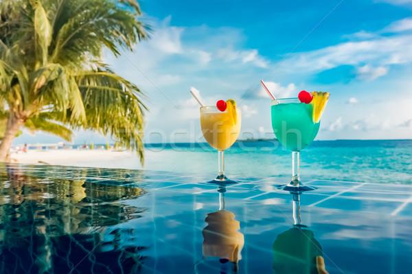 коктейль Бассейн индийской океана Мальдивы природы Сток-фото © cookelma
