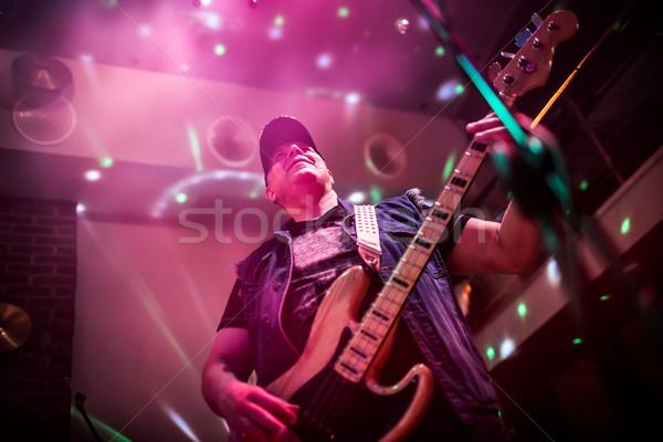 バンド ステージ ロック音楽 コンサート 警告 本物の ストックフォト © cookelma