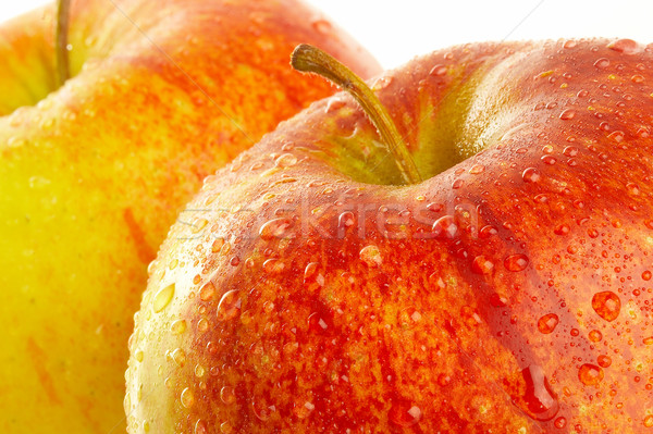 Stockfoto: Vers · appel · druppels · water · vruchten · najaar