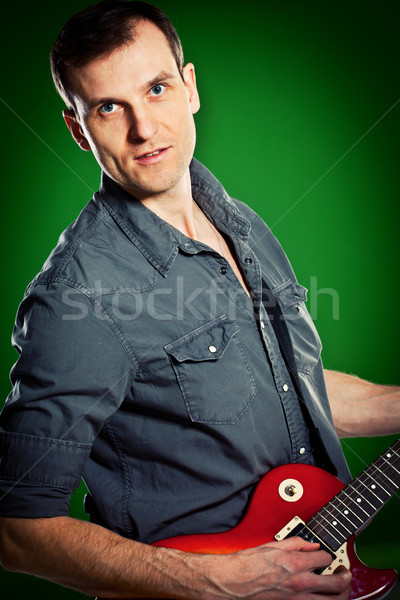 man with a guitar Stock photo © cookelma