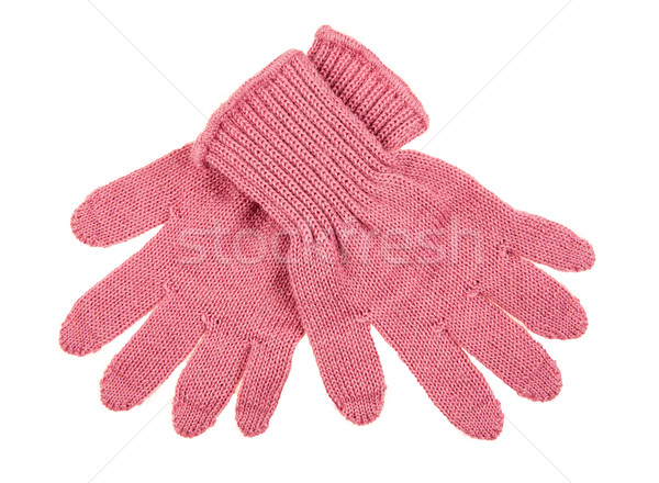 knitted woolen baby gloves Stock photo © cookelma