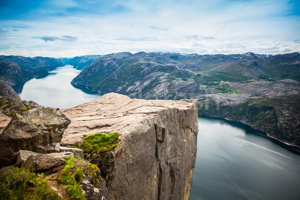 英語 岩 有名な 観光地 水 海 ストックフォト © cookelma