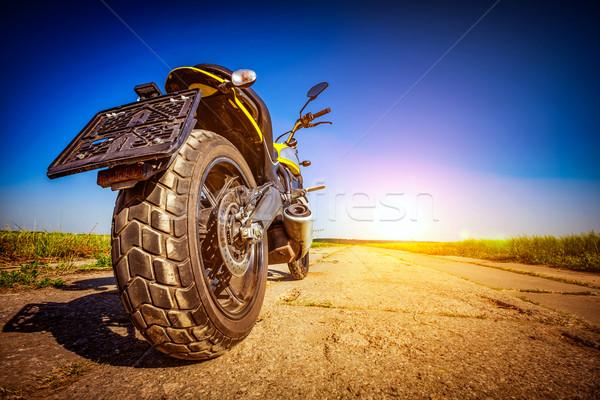 Moto route vue arrière vélo liberté moteur Photo stock © cookelma