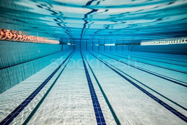 Zwembad water textuur kruis fitness achtergrond Stockfoto © cookelma