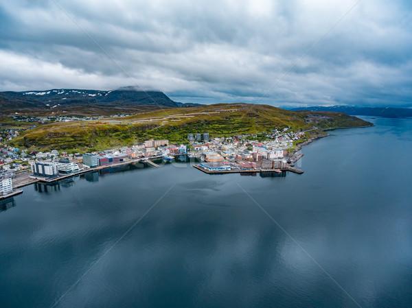 市 ノルウェー 写真 自然 風景 ストックフォト © cookelma