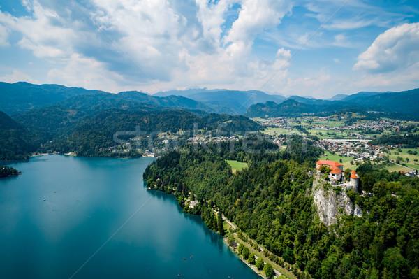 Slovenia resort lago cielo acqua Foto d'archivio © cookelma