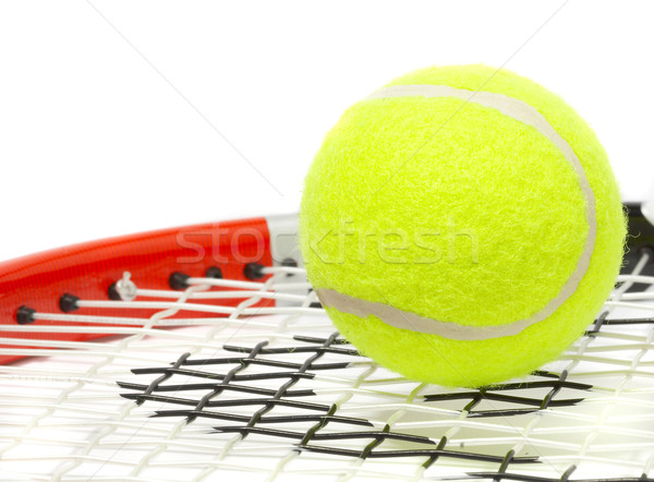 Tennis racket with a ball. Stock photo © cookelma