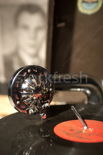Gramofon üzlet retro lemez ősi album Stock fotó © cookelma