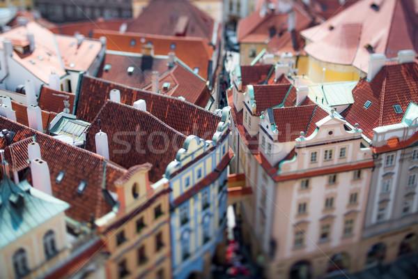 Prag görmek şehir üzerinde vardiya objektif Stok fotoğraf © cookelma