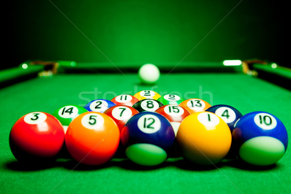 billiard spheres Stock photo © cookelma