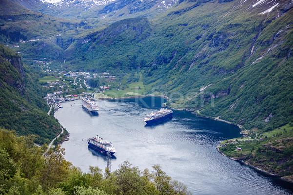 Norveç güzel doğa vardiya objektif uzun Stok fotoğraf © cookelma
