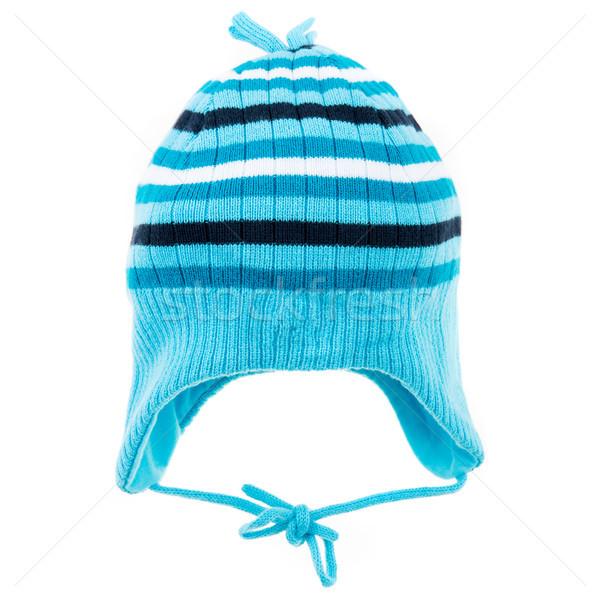 Winter hoed geïsoleerd witte kinderen mode Stockfoto © cookelma