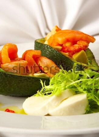 Smakelijk schotel achter dining snack vis Stockfoto © cookelma
