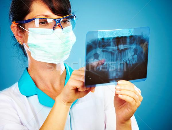 Lekarza xray kobiet szczęka strony medycznych Zdjęcia stock © cookelma