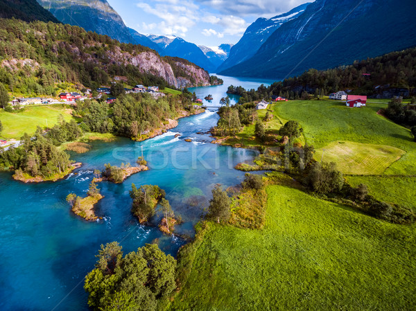Bella natura Norvegia fotografia naturale Foto d'archivio © cookelma