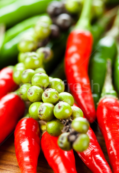 Poivre rouge piment poivrons autre table Photo stock © cookelma