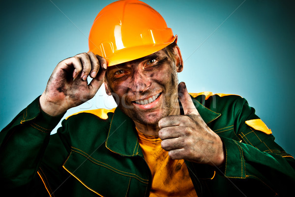 Stock photo: portrait oil industry worker